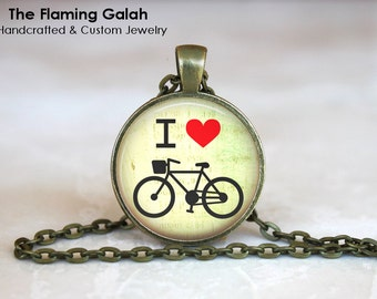 I LOVE BIKES Pendant • Bike Quote • Bicycle Quote • Gift for a Cyclist • Bike Enthusiast • Gift Under 20 • Made in Australia (P1097)