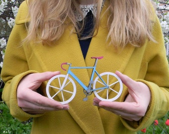 Custom Hand Painted Miniature Bicycle Model - Fixie Bicycle Model - Fixgear - Wood Bicycle Model - Custom Bicycle  - ART Bicycle - Handmade