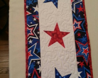 Fourth of July Quilted Table Runner