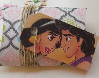 Aladdin, 10 gift tags, Handmade, Disney, Aladdin labels, Aladdin gift tags, Disney labels, Disney gift tags, Paper ephemera, #268
