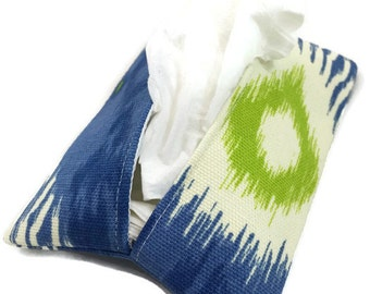 Travel Tissue Holder Kleenex Pouch in Ikat