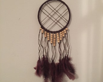 Modern Hippie Beads & Feathers Dreamcatcher