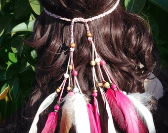 Flamingo Feather Headband Feather Headdress