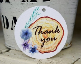 Thank You gift tags,stickers,labels,watercolor paper gift tags,party supplies,watercolor flowers gift tags,wedding tags,birthday gift tags