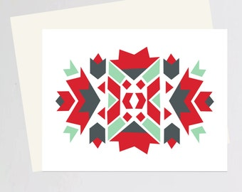 Christmas abstract greeting card