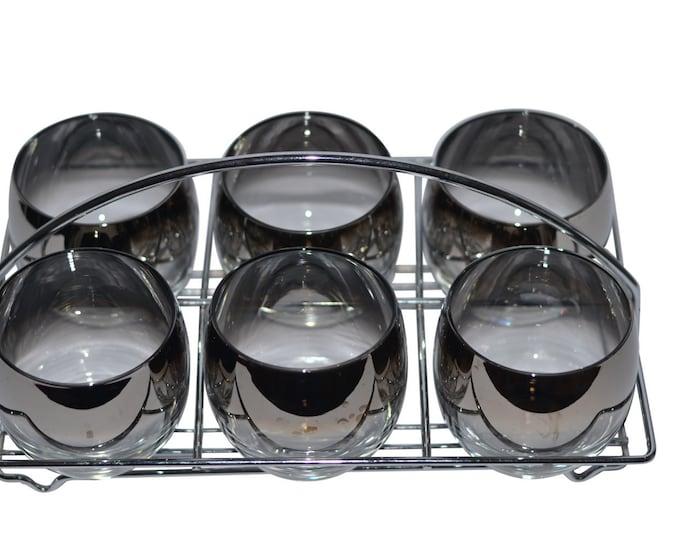 Vintage Estate Mercury Fade Caddy Glass Set
