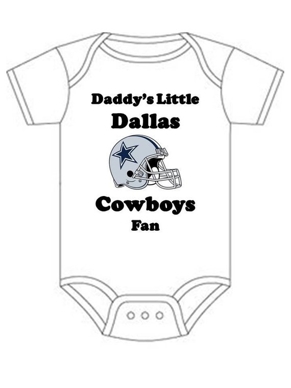 Dallas Cowboys Daddys little fan Shirt by OurFamilyEngraving
