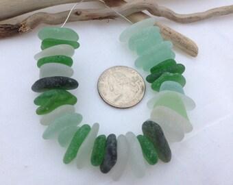 Beach glass Sea glass. Drilled glass. Jewelry Supplies