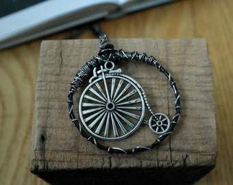 Penny Farthing Bike Necklace