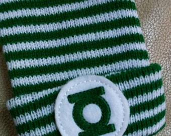Newborn Beanie Hat. Green SuperHero! Choice of Hat Colors. Super Cute. Perfect Gift! Newborn Hospital Hat. Baby's 1st Keepsake!