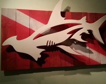 Hammerhed Shark Art