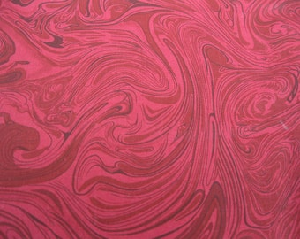 marbled 100 percent cotton deep wine fabric