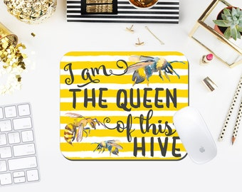 Queen of This Hive Custom Sorority Mouse Pad exclusively at The Greek Ink Press