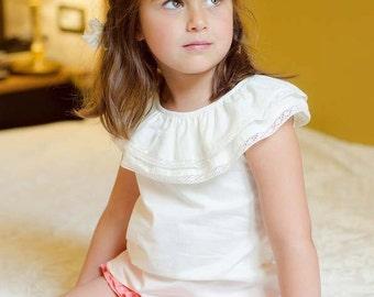 girls fashion, boutique, kids clothing, vintage shirt, girls blouse,lace blouse top