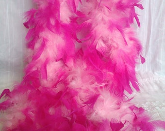 Feather boa pink and white boa hot pink feathers white feathers