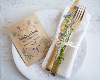 Butterflies & Bees -  Personalised Seed Packet Favour