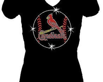St Louis Cardinals Rhinestone Shirt