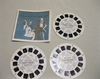 the Black Hills Passion Play with Josef Meier, GAF Viewmaster A491, 3 reels and booklet.