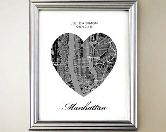 Manhattan Heart Map