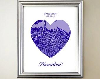 Hamilton Heart Map
