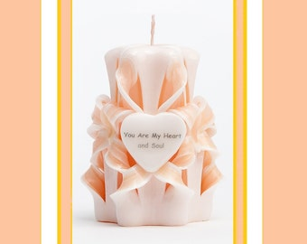 Personalised Candle - Carved Candle - Decorative candle -m Wedding gift