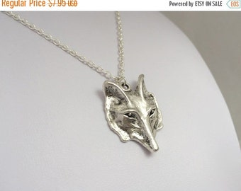 SALE: Silver Wolf Necklace. Wild Forest, Nature inspired. Jewelry by FairyOakWoodLand