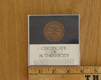 STATUE of LIBERTY II Comemmorative Coin in Case with Certificate of Authenticity 1985