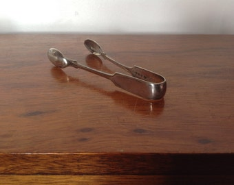 Vintage Silver Plated Sugar Tongs. Hallmarked.1940's.