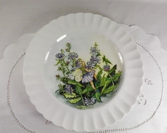 Vintage Flower Fairy / Wood Nymph Plate
