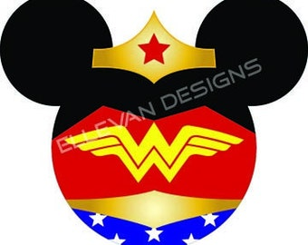 Wonder Woman Disney iron on transfer