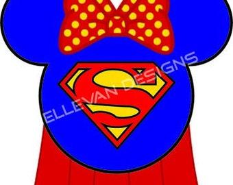 Super Girl Disney iron on transfer
