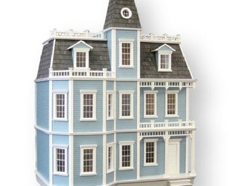Dollhouse Kit, DIY Dollhouse - Unfinished Newport Dollhouse From the Batrie Collection