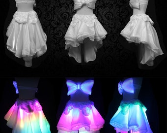 LED skirt - Lightup Clothing - LED couture outfit