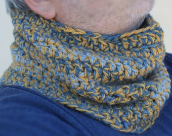 Neck warmer, Infinity scarf for man or woman, made to order in any colour combination