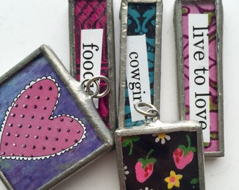 Wholesale Charms, Set of 5, Soldered Charms, Soldered Pendant, Wholesale Necklace