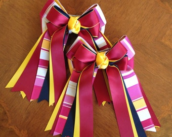 Horse Show Hair Bows, Accessory, Washington Football Team Colors/Ready2Mail