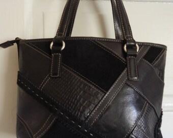 Cute Leather/Suede Fossil Handbag!