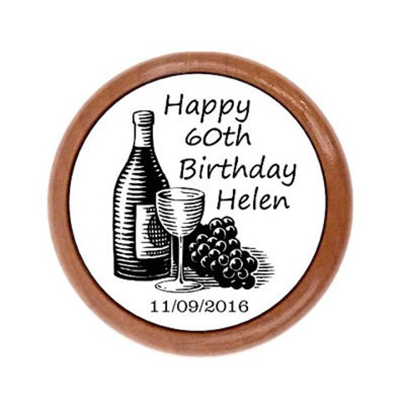 Gorgeous Personalized 60th Birthday Gifts For Her: Personalized 60th Wine Stopper. 60th Birthday Gift For Women