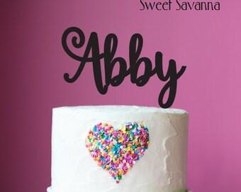 Name Cake Topper - Custom cake topper- Acrylic Cake topper