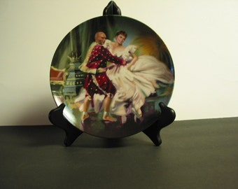 "Beautiful Vintage Collector Plate ""Shall We Dance"" Second Plate In ""The King And I"" Series."