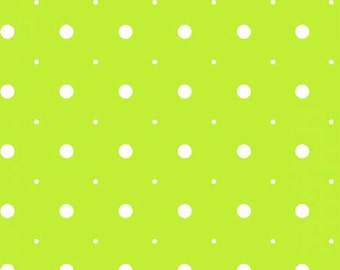 45'' Henry Glass & Co. Ric Rac Paddywack Lime Dot Flannel by the Yard 6459-66