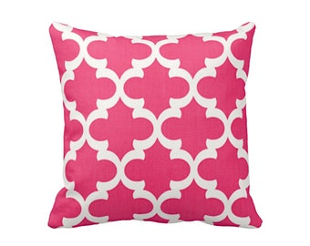 SALE | 50% OFF: 20x20 Pillow Cover Pink Throw Pillow Cover Moroccan Pillow Cover Moroccan Decor Hot Pink Pillow Cover Pink Sofa Pillow