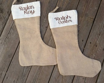 Stocking. Embroidered. Monogrammed. Christmas stocking