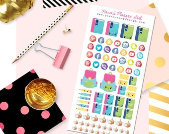 Planner Girl Stickers, Planner Stickers, Kawaii Stickers, for use with ERIN CONDREN LIFEPLANNER™, Kawaii Planner Stickers, Agenda, Planners