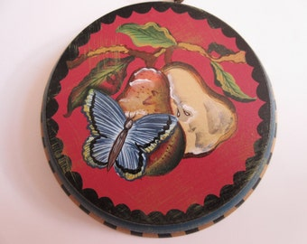 Tracy Porter Hand Painted Wall Art - Midwest - Fruit Pears and Butterfly