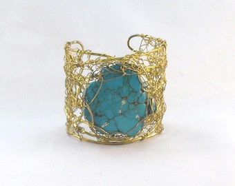 Mesh Bracelet with Turquoise
