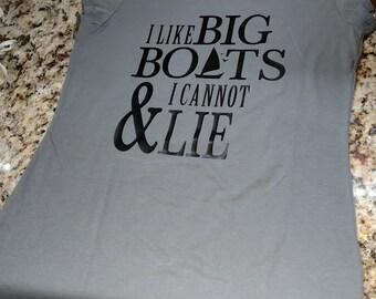 I Like Big Boats & I Cannot Lie tank