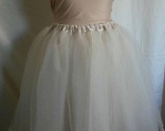Wedding Tutu Bridal skirt, champagne/ivory, tulle and satin, size S-XXXL, bridesmaid,  prom, grad
