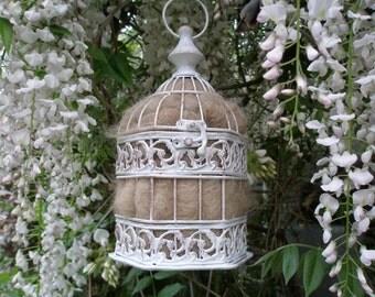 Bird Nester - Garden Decor - Rustic Birdcage - Llama Fiber Nester - Outdoor Decor - Housewarming Gift - Natural Home Decor - Gardener Gift