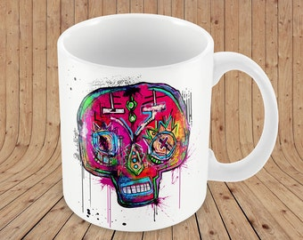 Illustrated Street Art Mug 'Craneon'